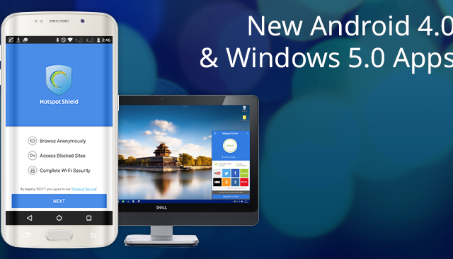 Introducing the New Android 4.0 and Windows 5.0 Hotspot Shield Apps